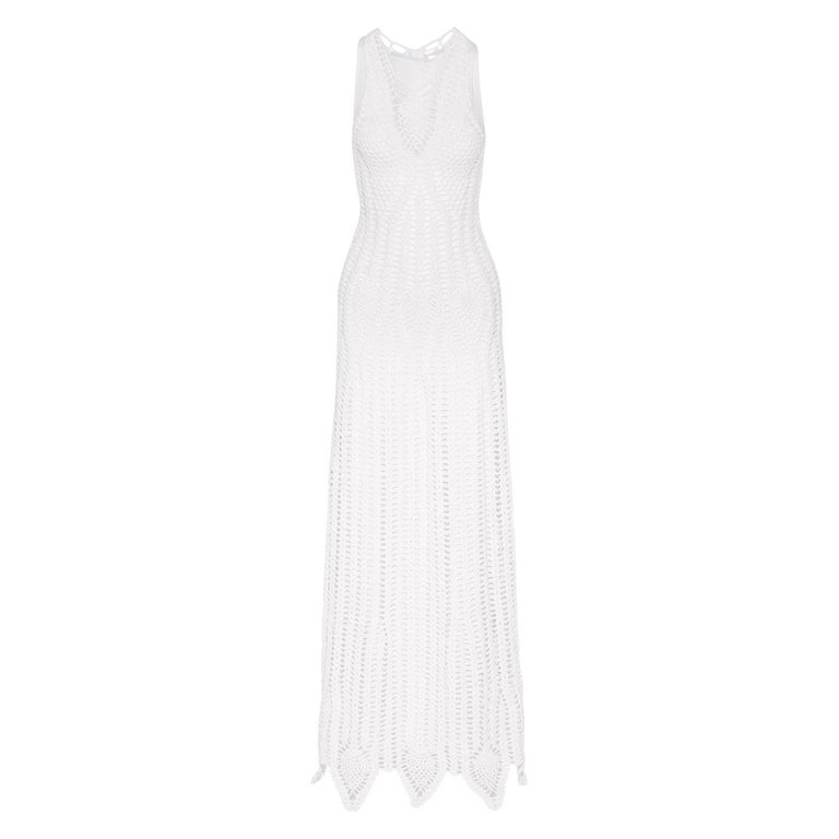 Rosetta Getty Crocheted Cotton-Blend Maxi Dress For Sale
