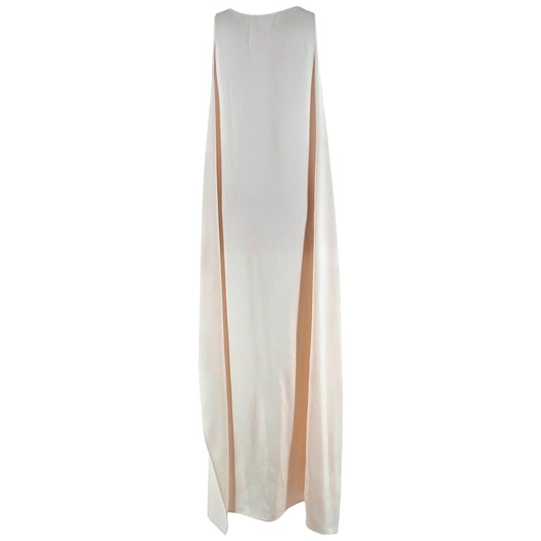 Rosetta Getty Ivory Tie Front Midi Dress  - Contemporary Style  - Striped Textured Viscose - Laced Wrapped Detail  - Comfortable Loose Fit   Made in USA  Measurements are taken laying flat, seam to seam.   Chest - 39cm Length - 129cm