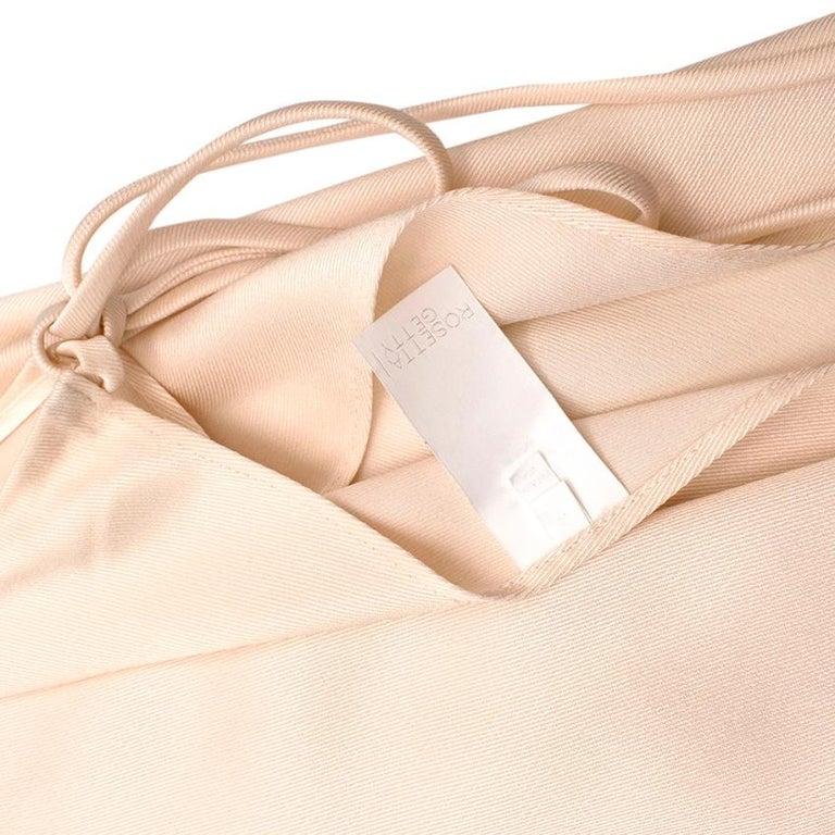 Women's or Men's Rosetta Getty Ivory Tie Front Midi Dress - Size US 4 For Sale