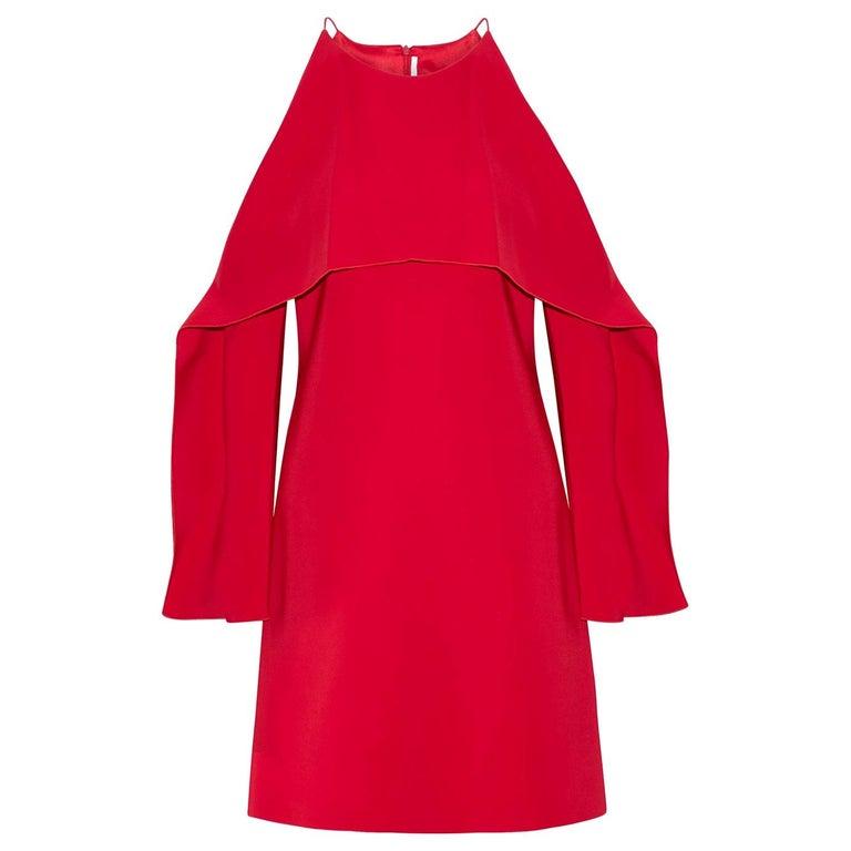 Rosetta Getty Layer Cutout Stretch-Cady Dress  For Sale