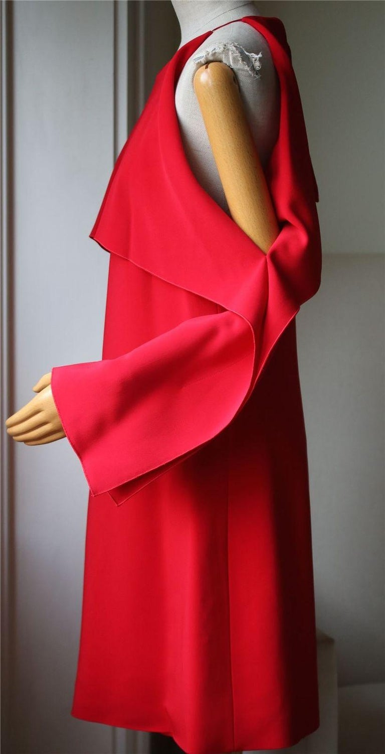 Rosetta Getty Layered Cutout Stretch-Cady Dress In New Condition For Sale In London, GB