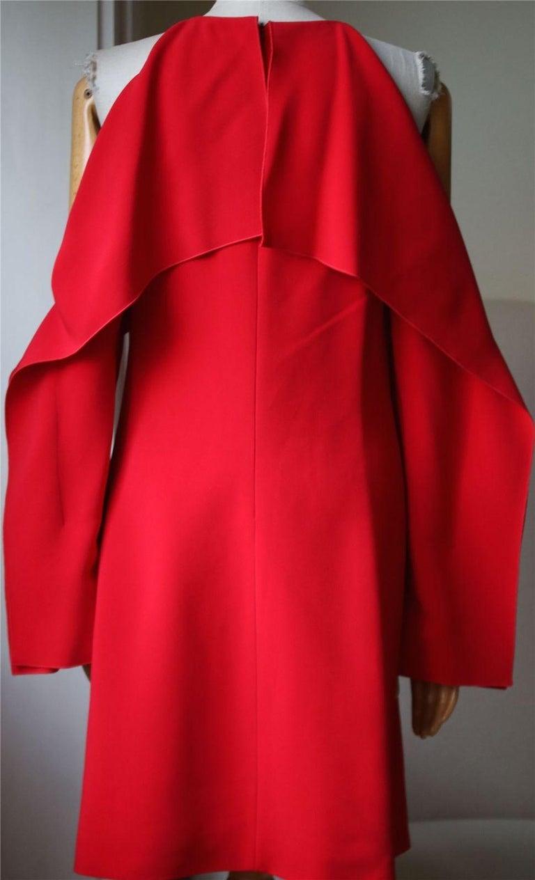 Women's Rosetta Getty Layered Cutout Stretch-Cady Dress For Sale