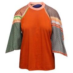Rosetta Getty Orange & Multicolor Long Sleeve Top