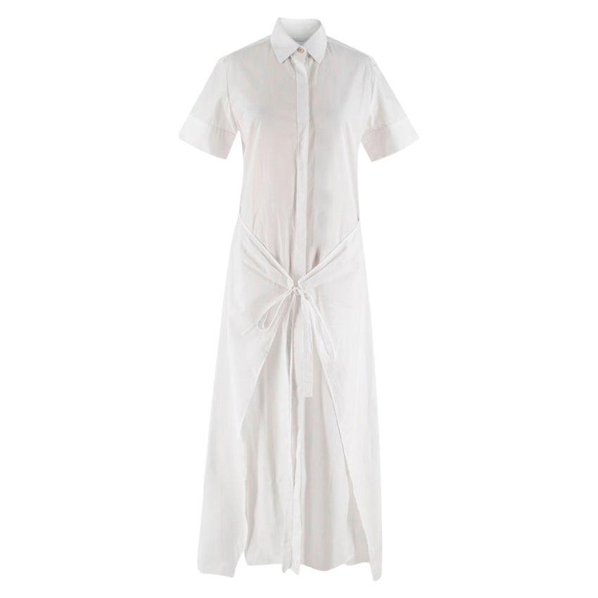 Rosetta Getty White Wrap Shirt Dress - Size US4