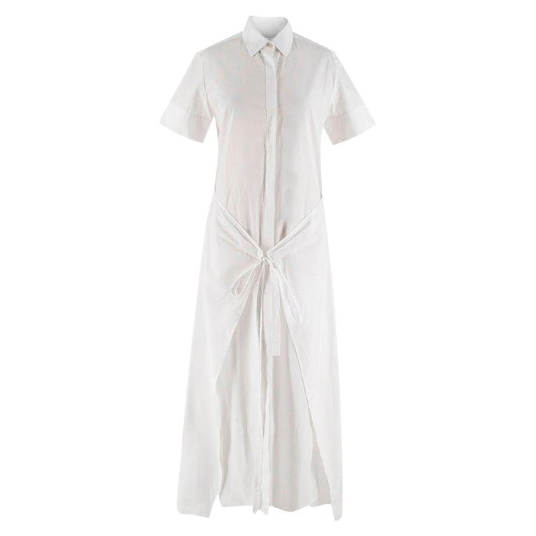 Rosetta Getty White Wrap Shirt Dress - Size US4 For Sale