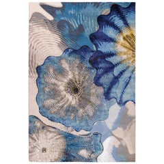 Rosette by Chihuly Hand Knotted Rug in Wool and Silk ( 9' x 6' )