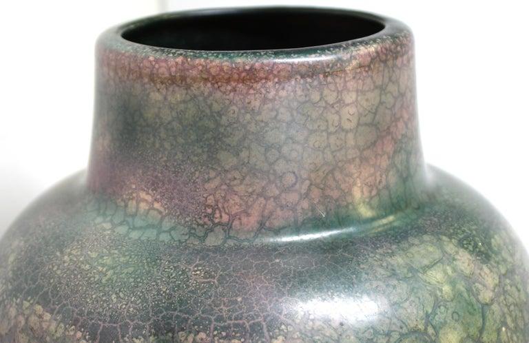 Roseville for Tiffany Chinese Form Pauleo Ceramic Vase For Sale 5