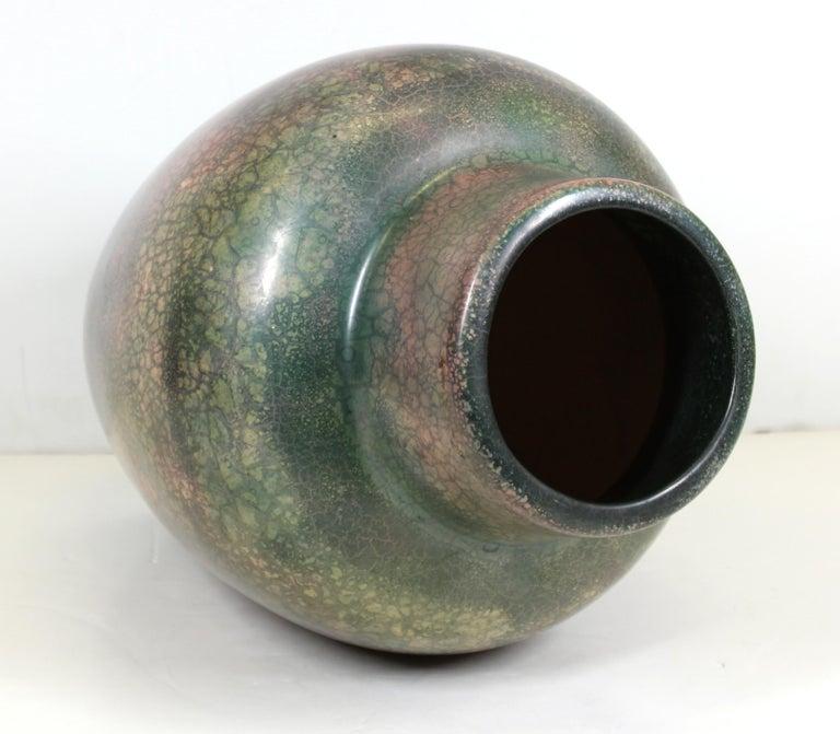 Roseville for Tiffany Chinese Form Pauleo Ceramic Vase For Sale 2