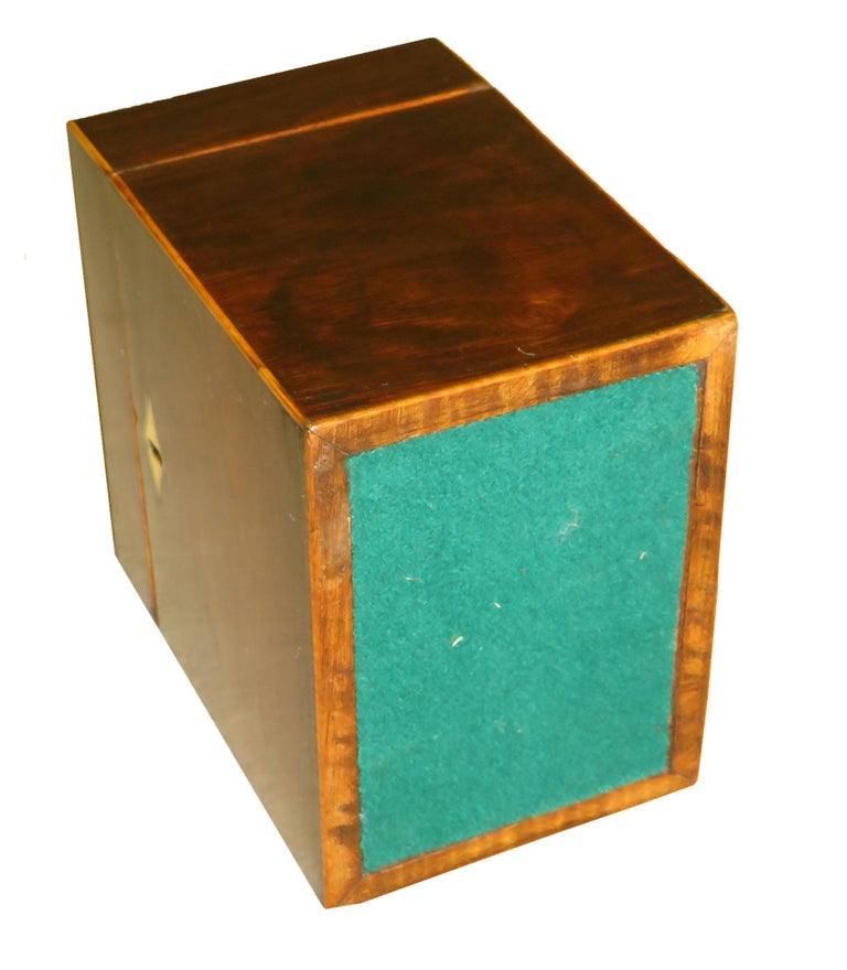 Late 18th Century Rosewood 18th Century Oblong Tea Caddy For Sale