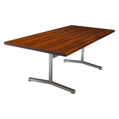 Rosewood 1960's Conference Table Desk by Theo Tempelman for A.P. Originals