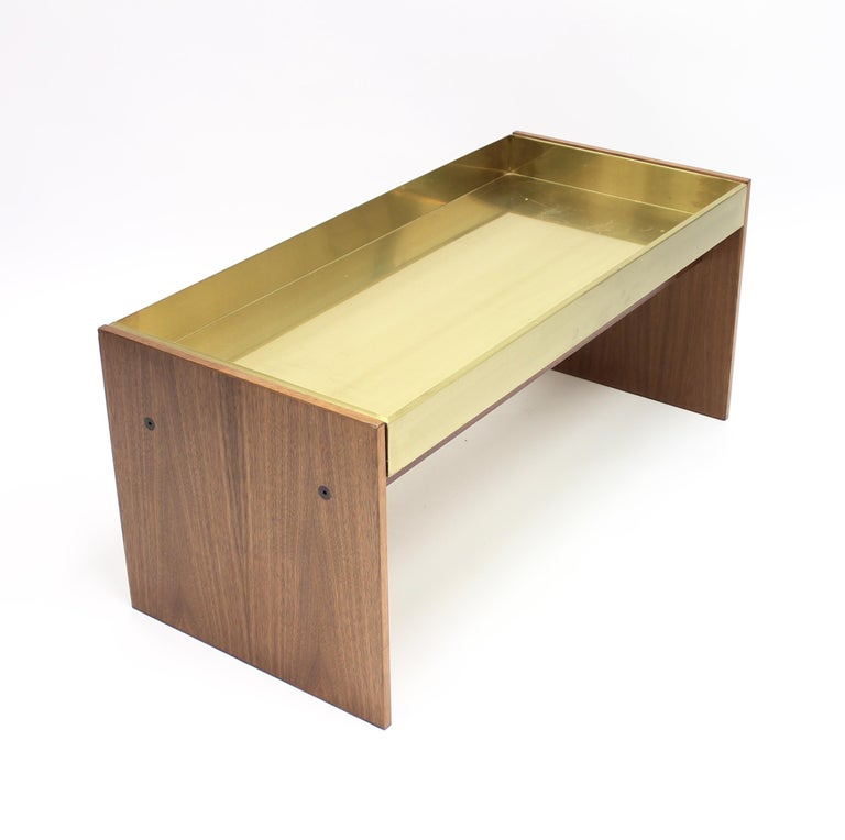 Scandinavian Modern Rosewood and Brass Planter, 1960s For Sale