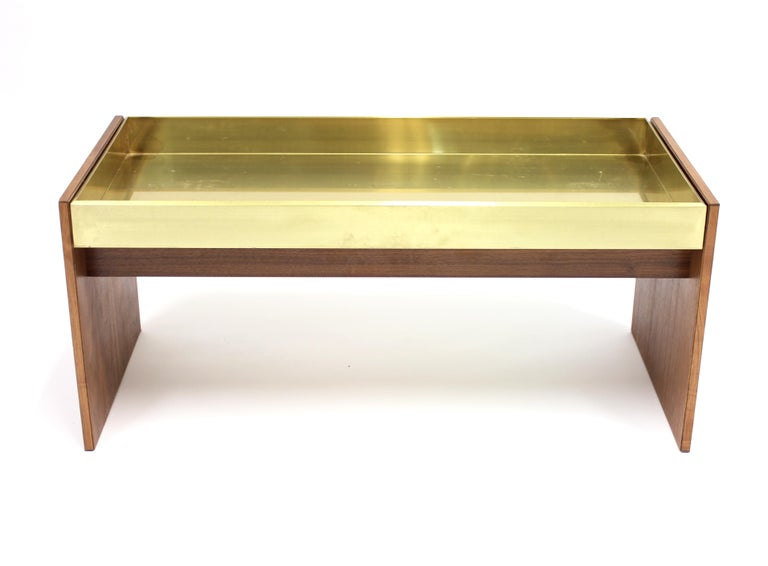 Rosewood and Brass Planter, 1960s In Good Condition For Sale In Uppsala, SE
