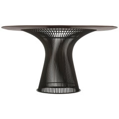 Rosewood and Bronze 1960s Warren Platner Dining Table by Knoll