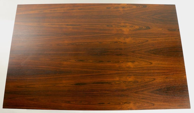 Rosewood and Chrome Coffee Table by Baughman for Thayer Coggin For Sale 7
