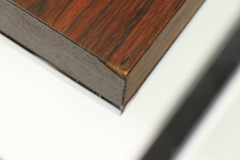 American Rosewood and Chrome Coffee Table by Baughman for Thayer Coggin For Sale