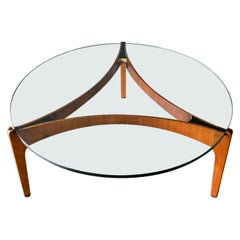 Rosewood and Glass Coffee Table by Sven Ellekaer for Christian Linneberg