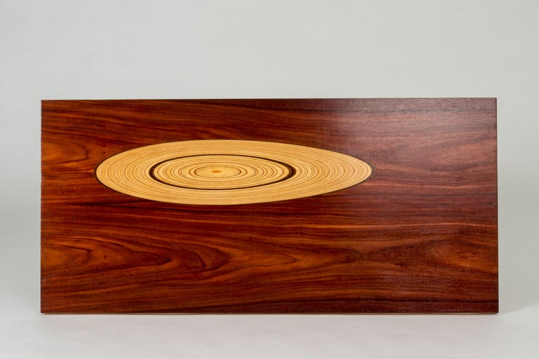 Scandinavian Modern Rosewood and Inlaid Wood Coffee Table by Tapio Wirkkala for Asko For Sale