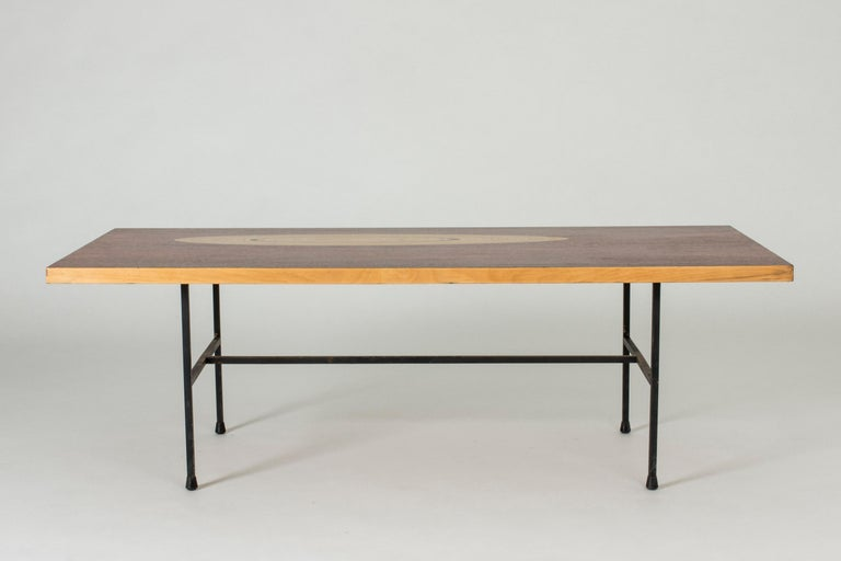 Finnish Rosewood and Inlaid Wood Coffee Table by Tapio Wirkkala for Asko For Sale