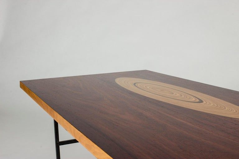 Rosewood and Inlaid Wood Coffee Table by Tapio Wirkkala for Asko For Sale 1