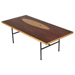 Rosewood and Inlaid Wood Coffee Table by Tapio Wirkkala for Asko