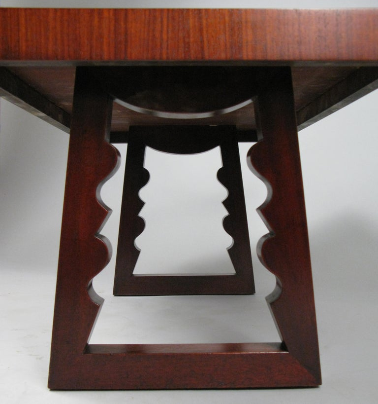 American Rosewood and Mahogany Cocktail Table by Andrew Szoeke For Sale