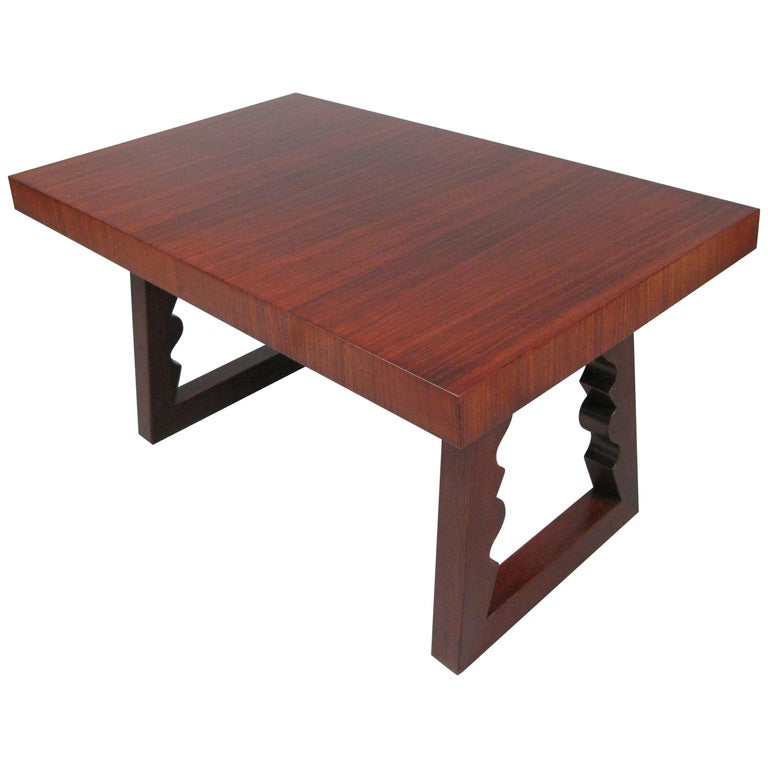 Rosewood and Mahogany Cocktail Table by Andrew Szoeke For Sale