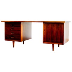 Rosewood and Mahogany Desk by Gordon Russell Limited