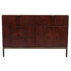 Rosewood and Marble Chest by Florence Knoll for Knoll Int
