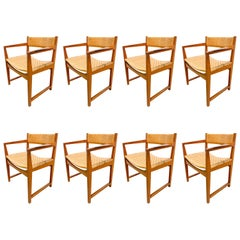 Rosewood and Teak Peter Hvidt Dining Chairs Set of 8