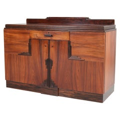 Rosewood Art Deco Amsterdam School Credenza or Sideboard by Fa. Drilling, 1920s