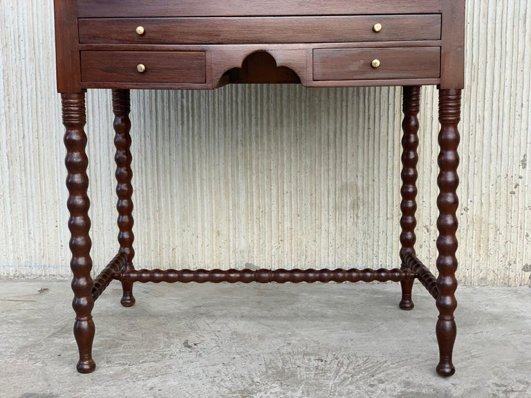 Rosewood Art Deco Open Up Vanity or Secretary Desk, Dressing Table For Sale 5