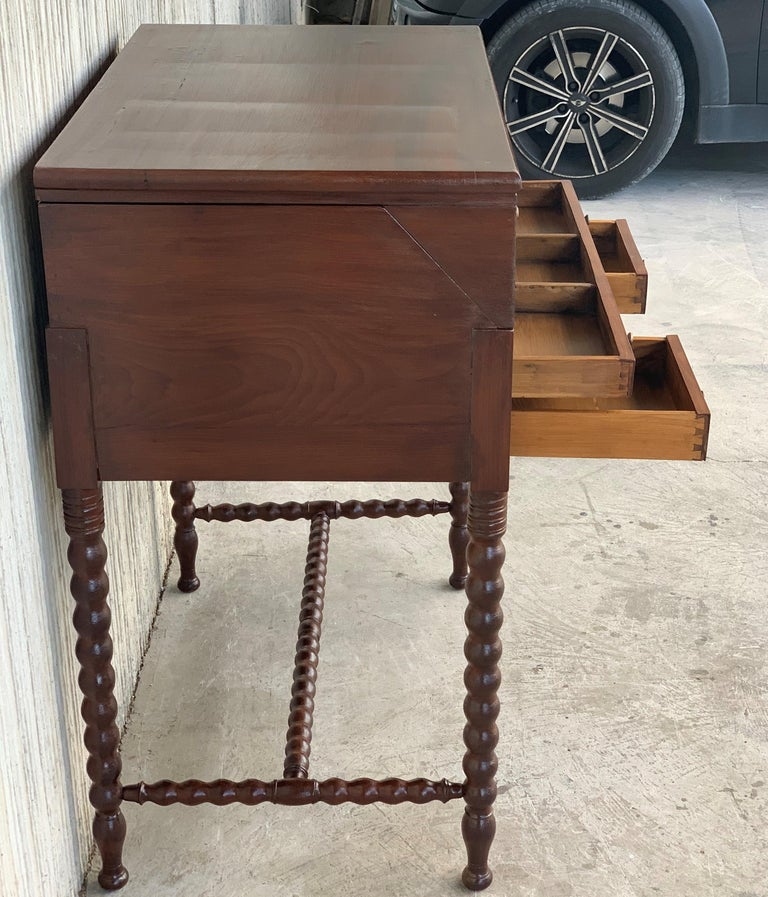 19th Century Rosewood Art Deco Open Up Vanity or Secretary Desk, Dressing Table For Sale