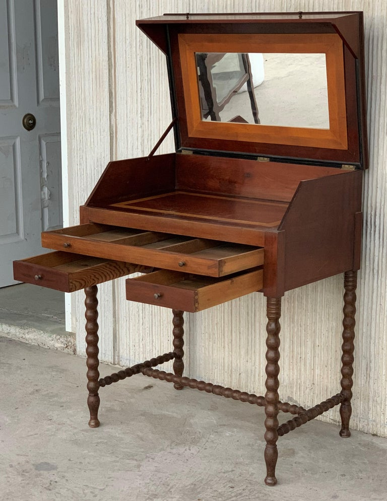 Mirror Rosewood Art Deco Open Up Vanity or Secretary Desk. Dressing Table For Sale