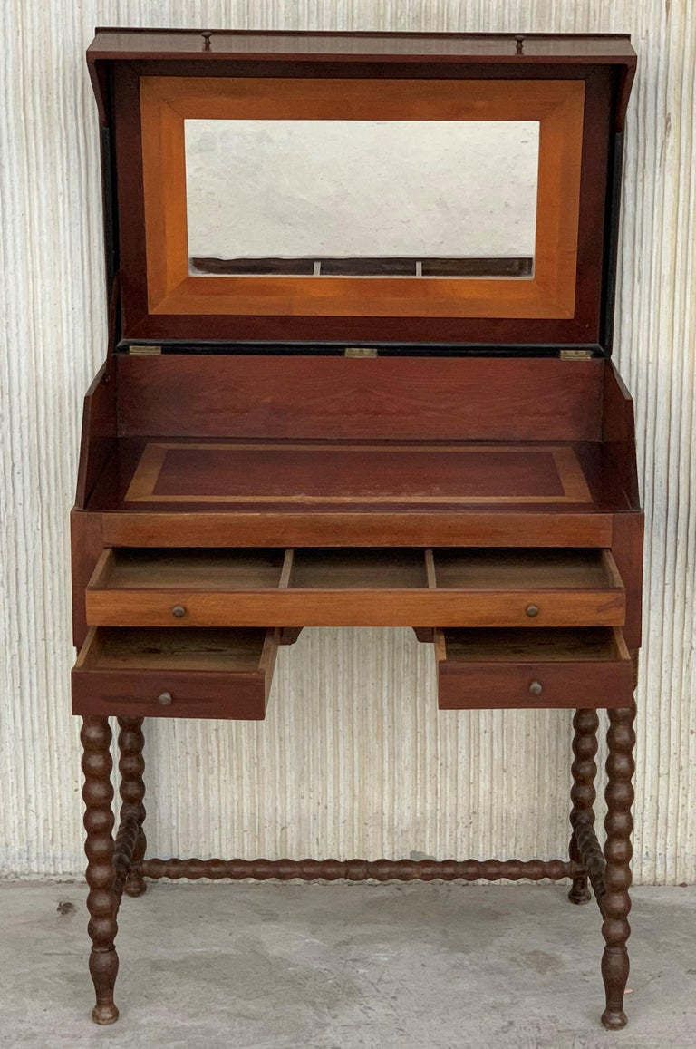Rosewood Art Deco Open Up Vanity or Secretary Desk. Dressing Table For Sale 1