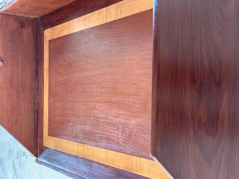 Rosewood Art Deco Open Up Vanity or Secretary Desk, Dressing Table For Sale 1