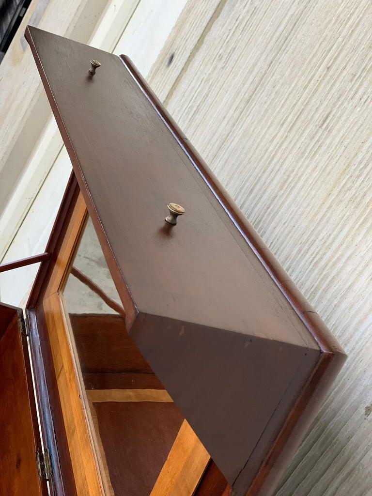 Rosewood Art Deco Open Up Vanity or Secretary Desk, Dressing Table For Sale 2