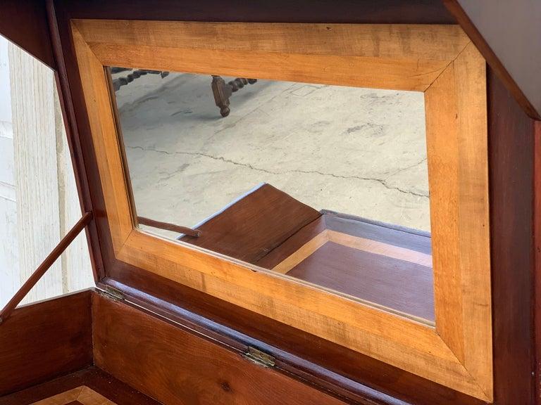 Rosewood Art Deco Open Up Vanity or Secretary Desk, Dressing Table For Sale 3