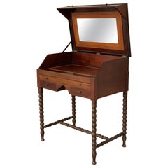 Rosewood Art Deco Open Up Vanity or Secretary Desk. Dressing Table