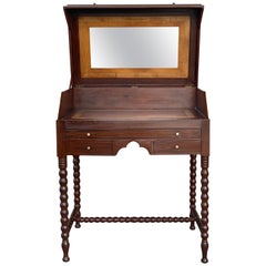 Rosewood Art Deco Open Up Vanity or Secretary Desk, Dressing Table