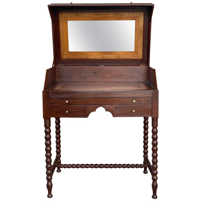 Rosewood Art Deco Open Up Vanity or Secretary Desk, Dressing Table For Sale