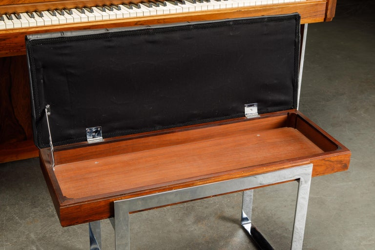 Rosewood 'Artist Spinet' Mid-Century Modern Piano by Kimball, c. 1960s, Signed For Sale 5