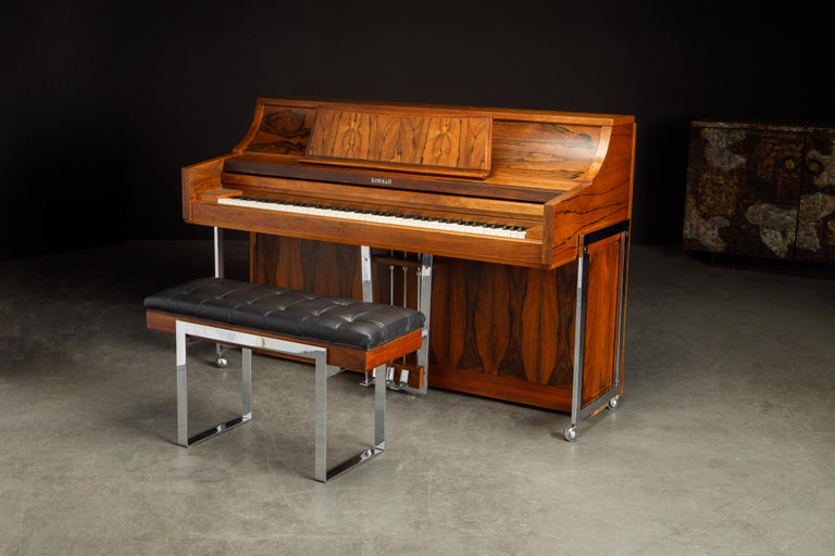 Rosewood 'Artist Spinet' Mid-Century Modern Piano by Kimball, c. 1960s, Signed For Sale 6