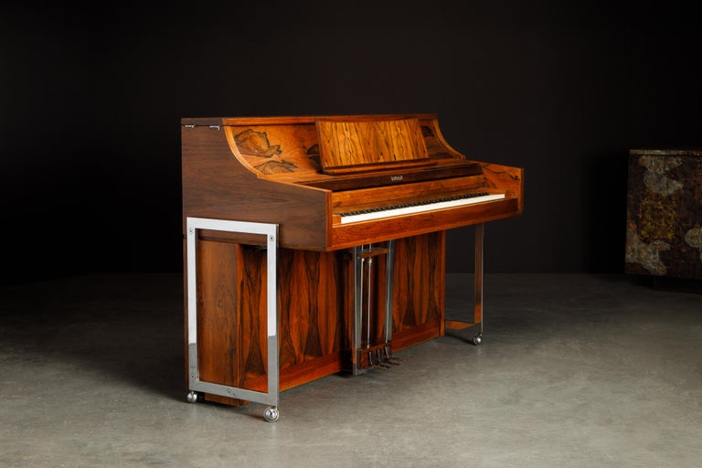 Rosewood 'Artist Spinet' Mid-Century Modern Piano by Kimball, c. 1960s, Signed For Sale 7