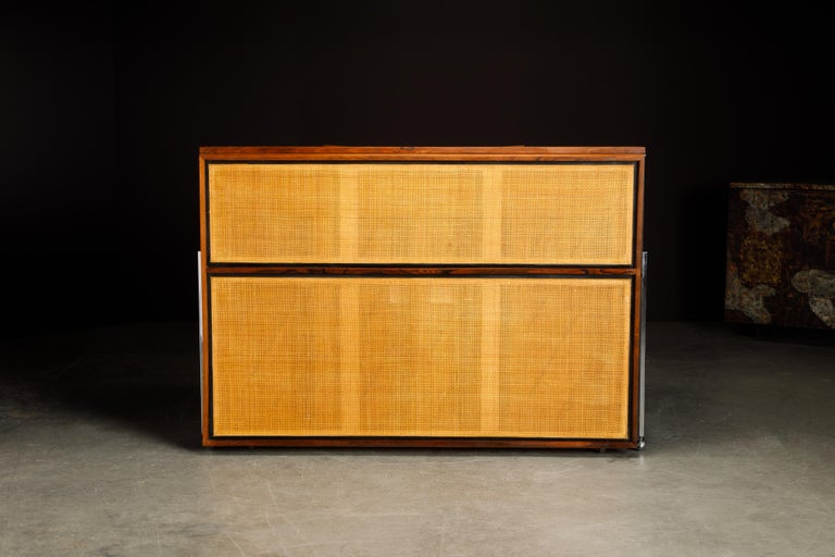 Rosewood 'Artist Spinet' Mid-Century Modern Piano by Kimball, c. 1960s, Signed For Sale 8