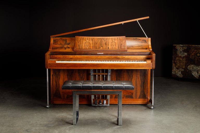 Mid-20th Century Rosewood 'Artist Spinet' Mid-Century Modern Piano by Kimball, c. 1960s, Signed For Sale