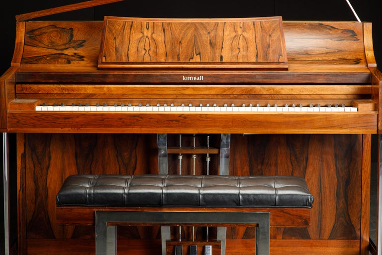 Rosewood 'Artist Spinet' Mid-Century Modern Piano by Kimball, c. 1960s, Signed For Sale 1