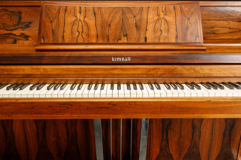 Rosewood 'Artist Spinet' Mid-Century Modern Piano by Kimball, c. 1960s, Signed For Sale 2