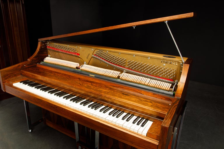 Rosewood 'Artist Spinet' Mid-Century Modern Piano by Kimball, c. 1960s, Signed For Sale 3