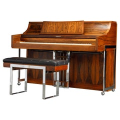 Rosewood 'Artist Spinet' Mid-Century Modern Piano by Kimball, c. 1960s, Signed
