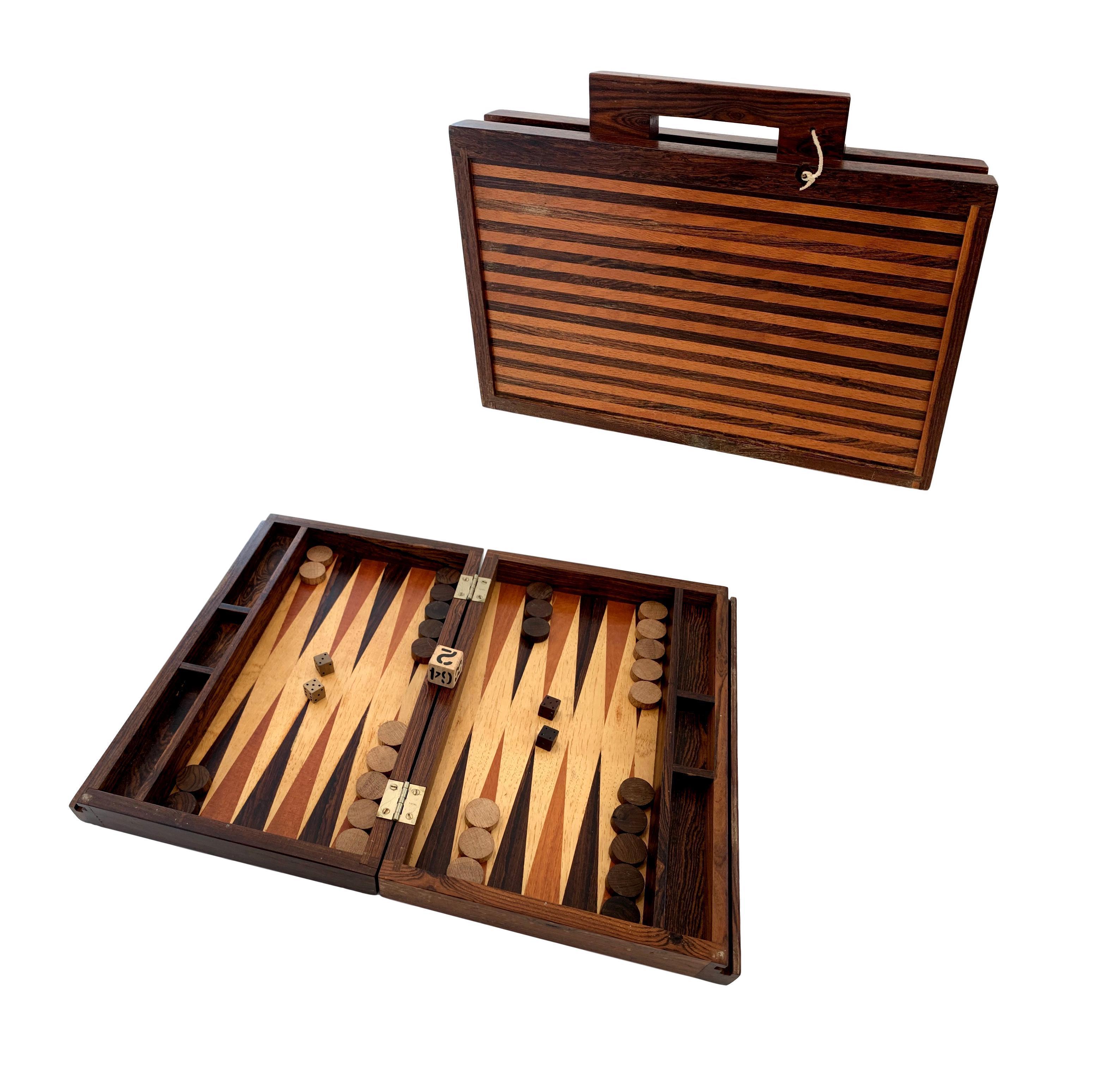 Rosewood Backgammon Set